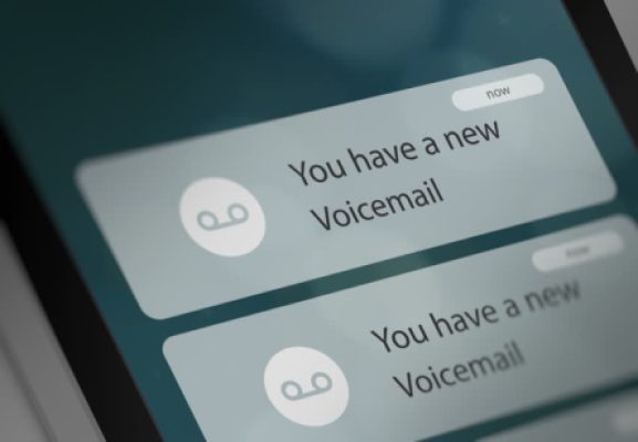 cell phone voicemail message